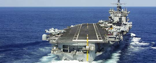The US have several aircraft carriers with 3 of them stationed in San Diego